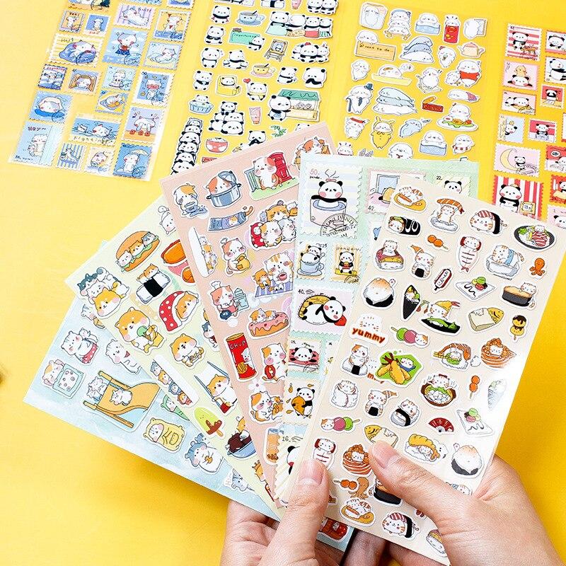 vanyi-24-disegni-animali-dei-cartoni-animati-simpatici-adesivi-confezione-estetica-scrapbooking-planner-bullet-journal-articoli-di-cancelleria-scuola
