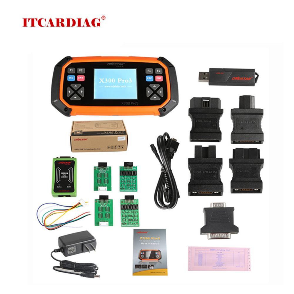 OBDSTAR X300 PRO3 X-300 Key Master con inmóvil + Ajuste de odómetro + EEPROM/PIC + OBDII + para Toyota G & H Chip todas las llaves perdidas