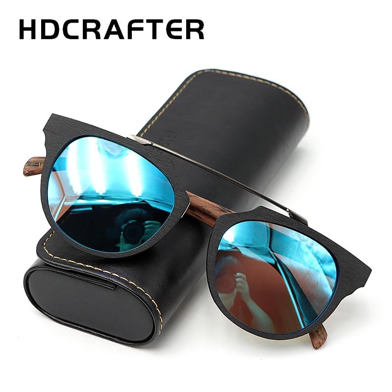 HDCRAFTER-نظارات شمسية مستقطبة خشبية عتيقة للرجال والنساء ، عدسات مطلية ، للقيادة