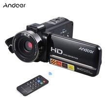 """Andoer HDV-3051STR 24M caméra vidéo numérique 1080P Full HD w/Night-shot hotboot caméscope numérique 3.0 """"16X Zoom numérique"""