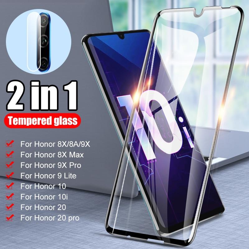 Vidrio templado para huawei honor 10i 10 20 pro lente de la Cámara Protector de pantalla para Honor 10 Lite 9X Pro 9 lite 8A 8X 30 30s vidrio