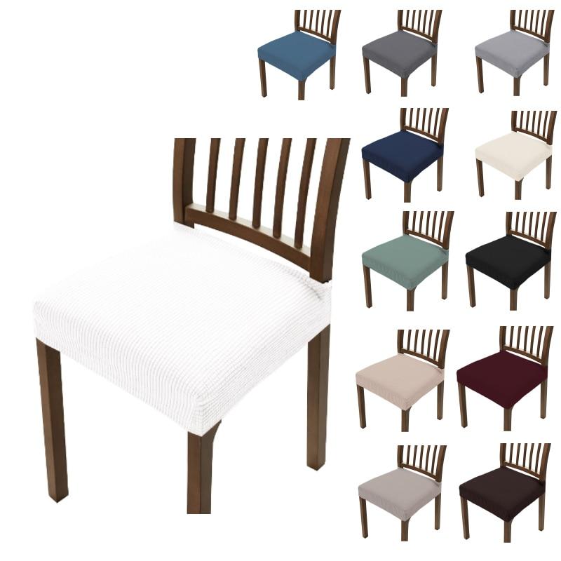 Jacquard-fundas de asiento para silla lavables... antipolvo... elásticas de licra... tapizadas para...