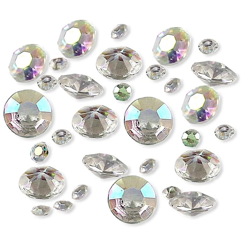 6000 mesclado casamento decoração scatter mesa cristais diamantes acrílico confetes ab claro