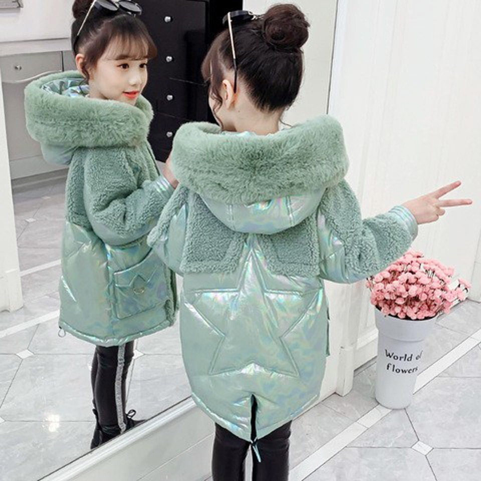 Children Winter Jacket for Girls Kids Hooded Warm Coats Cotton Girls Warm Hooded Thick Cotton-Padded Long Korean Kids Clothes enlarge