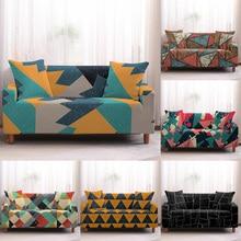 Geométrico elástico conjunto cubre sofá de algodón Universal fundas de sofá para sala de estar mascotas butaca de esquina sofá funda de esquina sofá