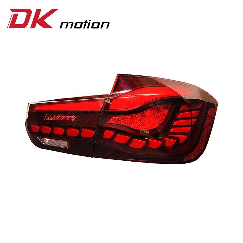 DK motion تعديل سيارة مصباح ليد خلفي مصابيح لسيارة BMW 3 سلسلة F10 F30 F80 2012 - 2018