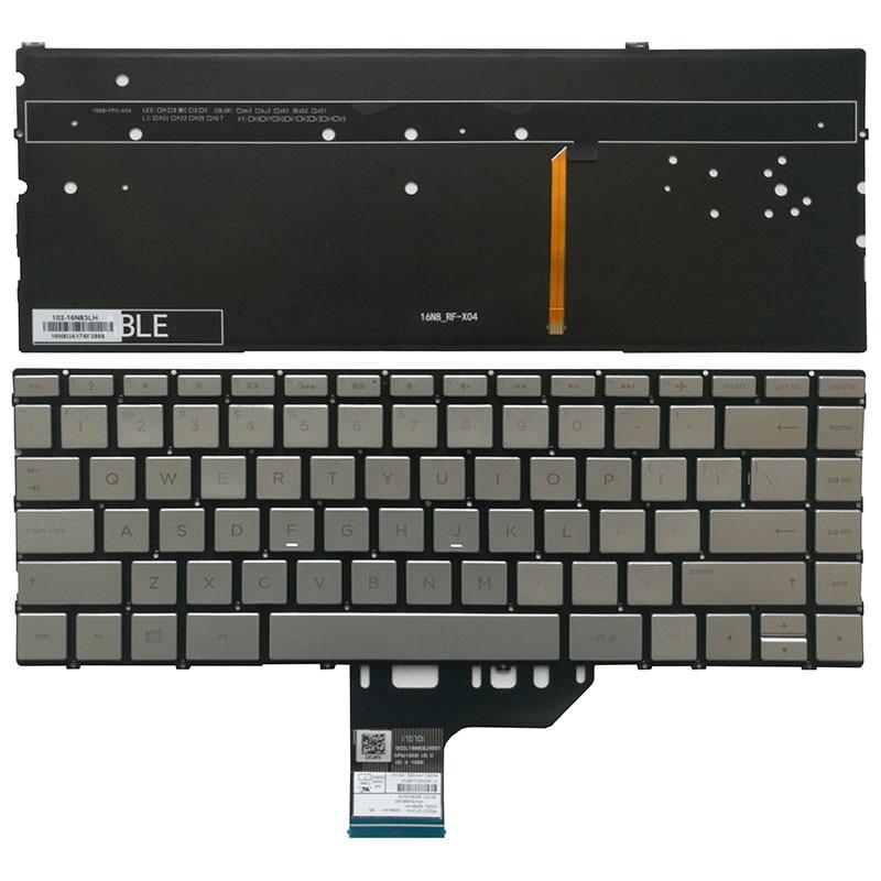 لنا الفضة الخلفية لوحة المفاتيح لابتوب HP شبح x360 13-W 13-W000 13-W010CA 13-W013DX 13-W020CA 13-W023DX 13-W030CA