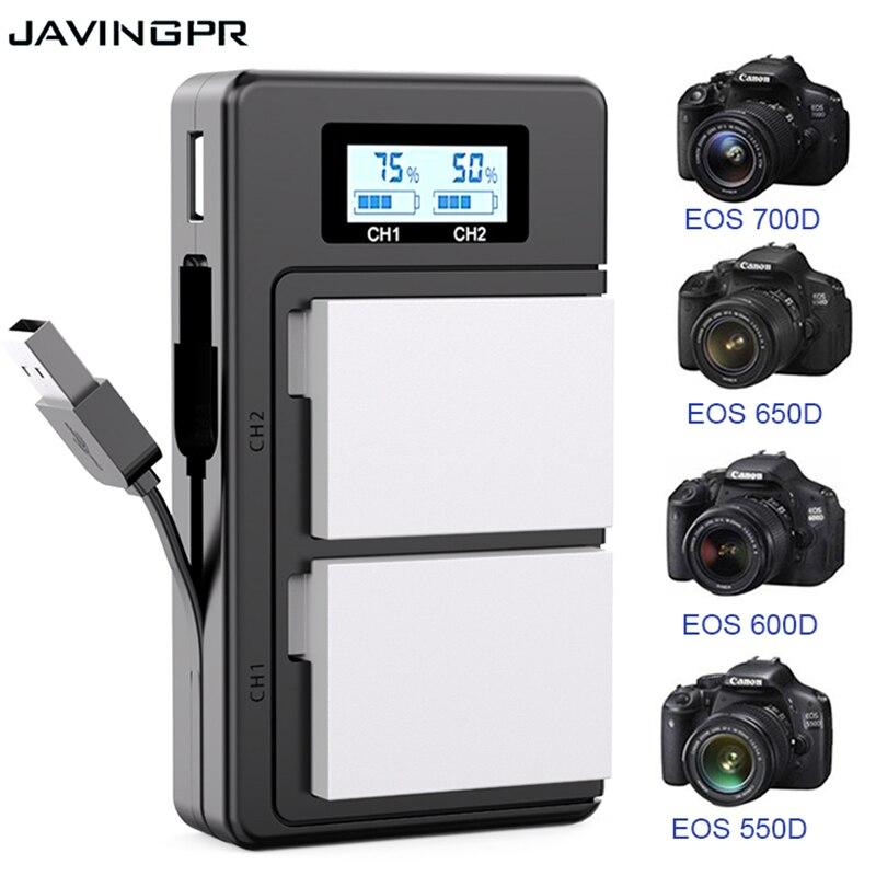 Многофункциональное зарядное устройство с ЖК-дисплеем для Canon EOS LP-E8 LPE8 LP E8 1800 мАч 7,4 В для Canon 550D 600D 650D 700D X4 X5 X6i X7i T2i T3i