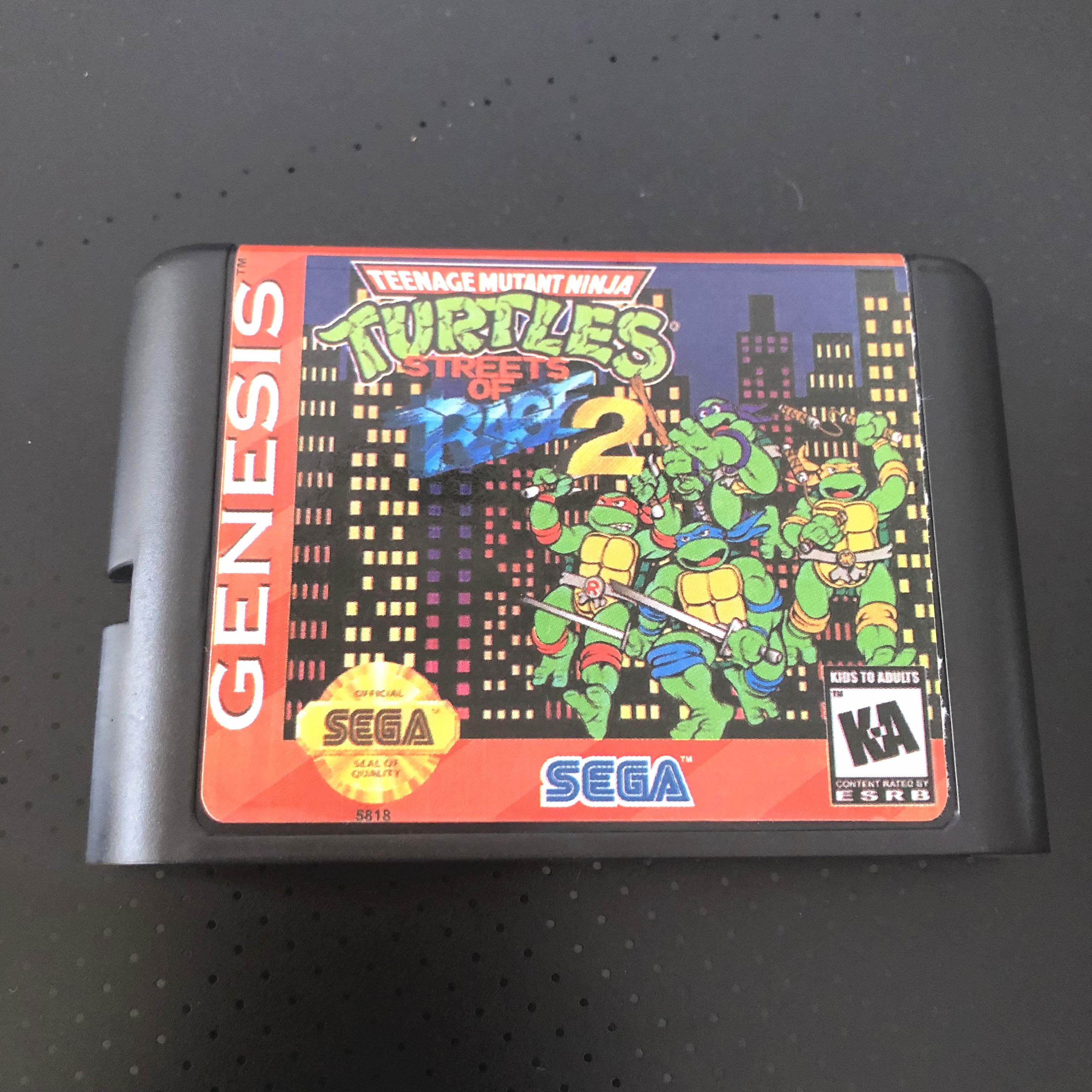 Tmnt en las calles de rabia 2 para SEGA GENESIS Mega Drive 16 poco cartucho de juego