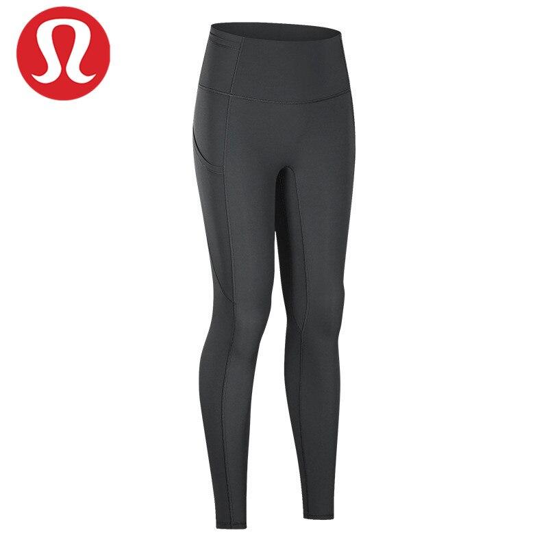 Lululemon-pantalones cortos ajustados a la cadera para mujer, calzas con bolsillos y...