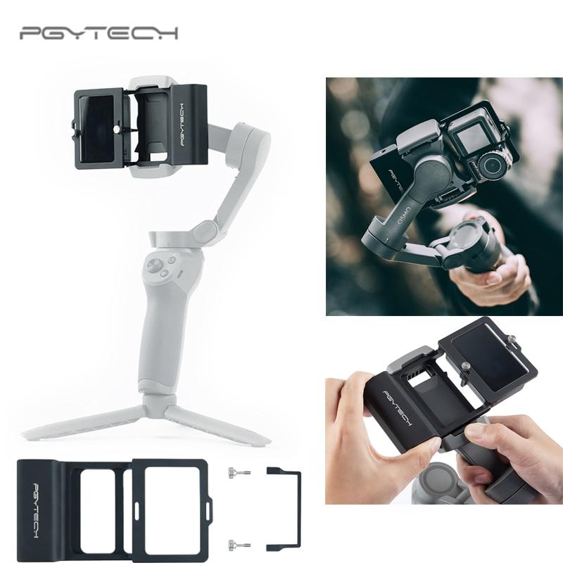 Adaptador de Cámara de Acción PGYTECH + cardán móvil para Gopro Hero7 6 5 Osmo acción DJI osmo móvil 3 Suave 4 accesorios de cámara