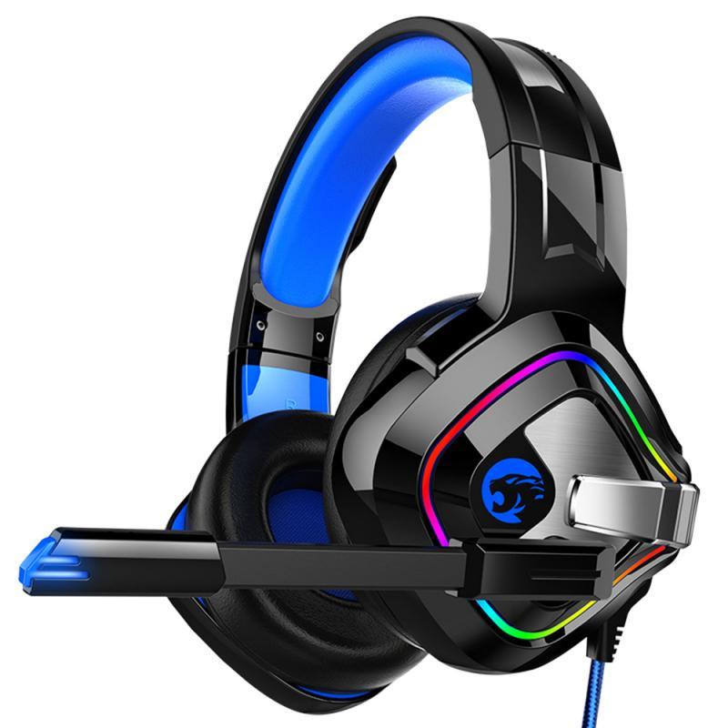 Fone de ouvido gamer a66 ps4 com fio, headset 4d estéreo com microfone para xbox one/laptop tablet gamer