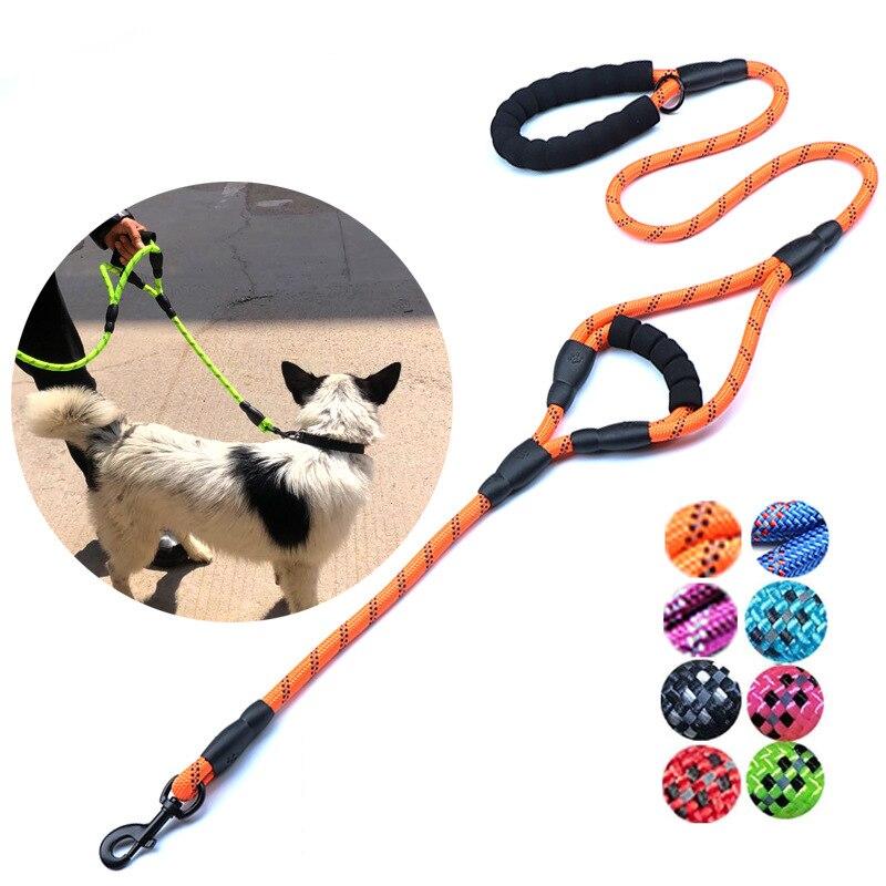 1,5/1,8 M correa de nailon Durable para perro Running Walk 60cmCarry Grip correa de perro correa de entrenamiento reflectante correa de perro