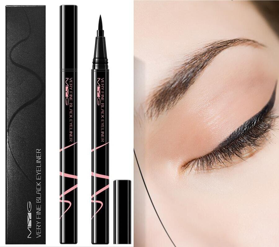 New 2021 1pc Eyes Makeup Liquid Eyeliner Waterproof 24 Hours Long-lasting Black Eyeliner Pen Make up Eye Liner Pencil недорого