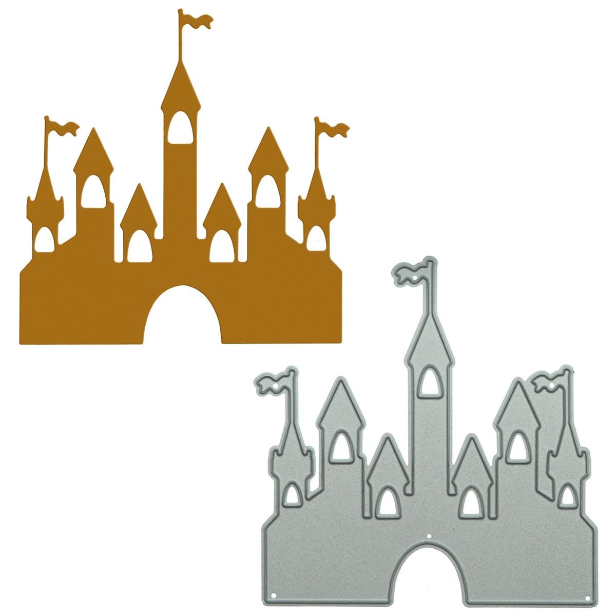 make this medieval castle For Scrapbooking Vintage Medieval Castle Pattern Metal Cutting Dies DIY Card Photo Album Clipart Paper Clip Art Decorating