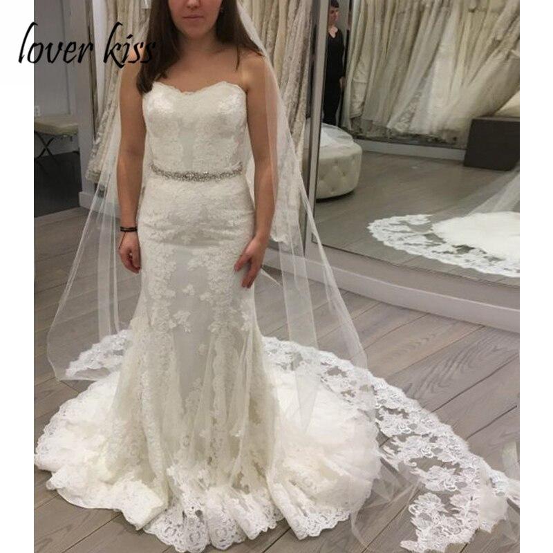 Amante beso Vestido De novia modesto cariño sin tirantes sirena Vestido de boda Vestido nupcial mariage 2020 traje De mariee sirene