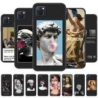 art david statue phone case for huawei honor 8s 6a 7c 8c 9c 9s 9x pro lite soft tpu cover monla lisa painting black fundas
