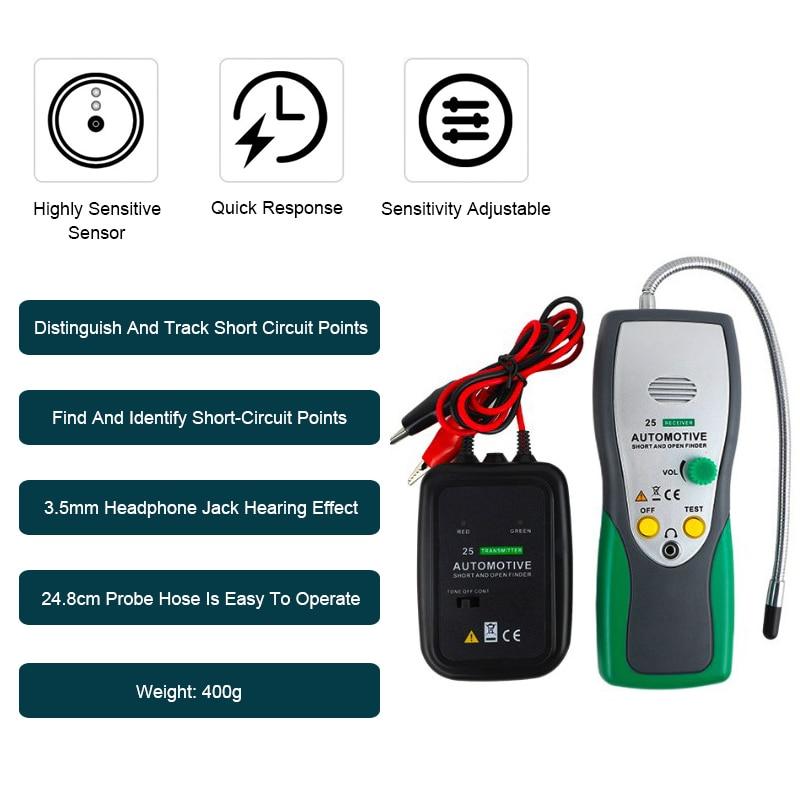 كاشف الكابلات الكهربائية للسيارات ، أداة إصلاح السيارات ، تتبع الكابلات/الأسلاك PK EM415 Pro