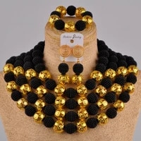 black african jewelry set simulated pearl nigerian wedding beads costume necklace sets for women fzz27