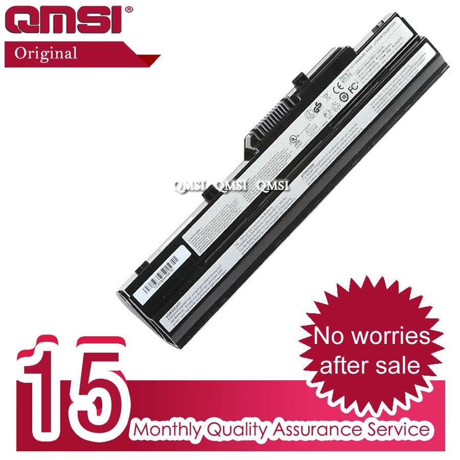 QMSI 11,1 V 48wh Original ordenador portátil batería BTY-S11/S12/S13 para MSI wind cuaderno U100 U90 U90X LG X110 X110-G x110-L E1210 MS-N011