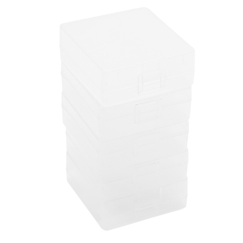 Soshine 5 pcs 2*9V Battery Storage Box 9V Battery Holder Case Transparent