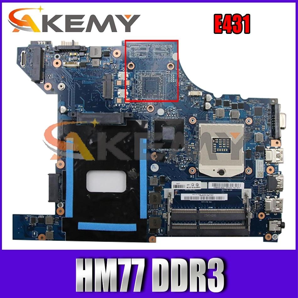 Akemy VILE1 NM-A043 اللوحة لينوفو ثينك باد E431 اللوحة المحمول PGA989 HM77 DDR3 100% اختبار العمل