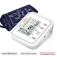 Blood Pressure Monitor Sphygmomanometer Heart Rate Pulse Meter Measuring Tonometer PR Upper Arm Pulse Household Meter Equipment