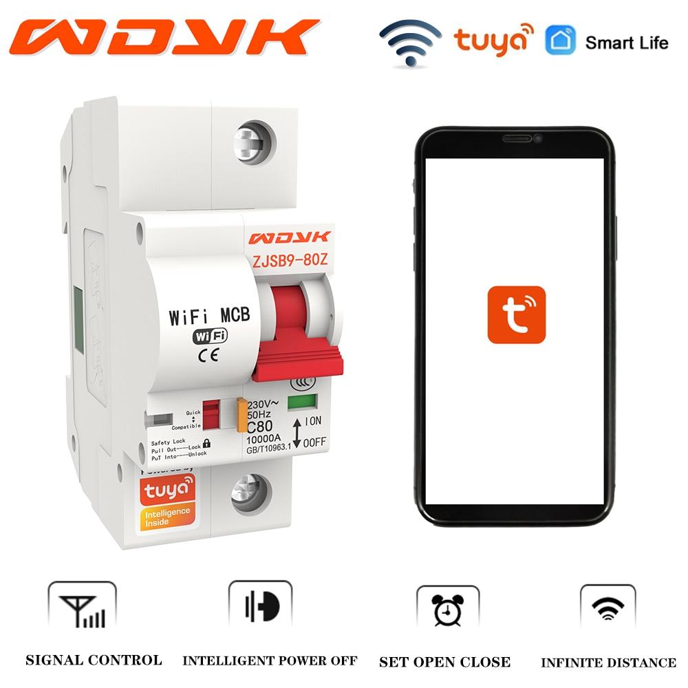 WDYK 1P الذكية قطاع دارة واي فاي مفتاح تلقائي للتحكم عن بعد الدائرة الزائد حامي TuyaAPP التحكم عن بعد