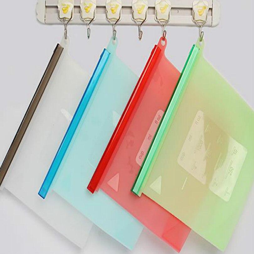 كيس سيليكون قابل لإعادة الاستخدام ، 1000 مللي ، 23 × 18 سنتيمتر ، لتخزين الطعام والفواكه والمأكولات البحرية والخضروات