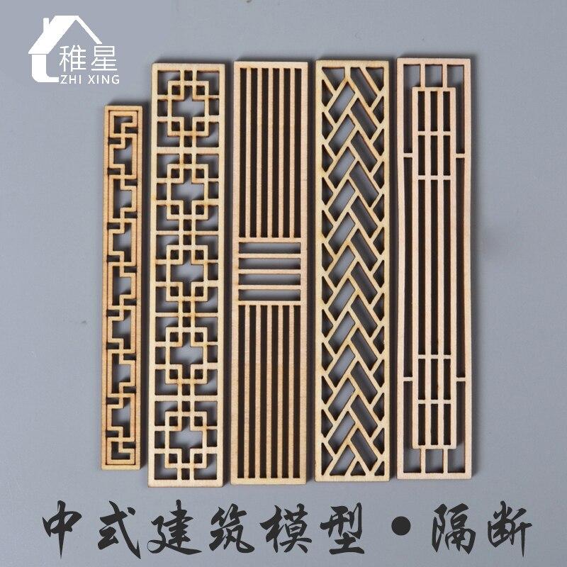 Lote de 8 unidades de accesorios para muñecas, mini mobiliario, mesa de arena en miniatura, accesorios, diseño de madera de estilo chino