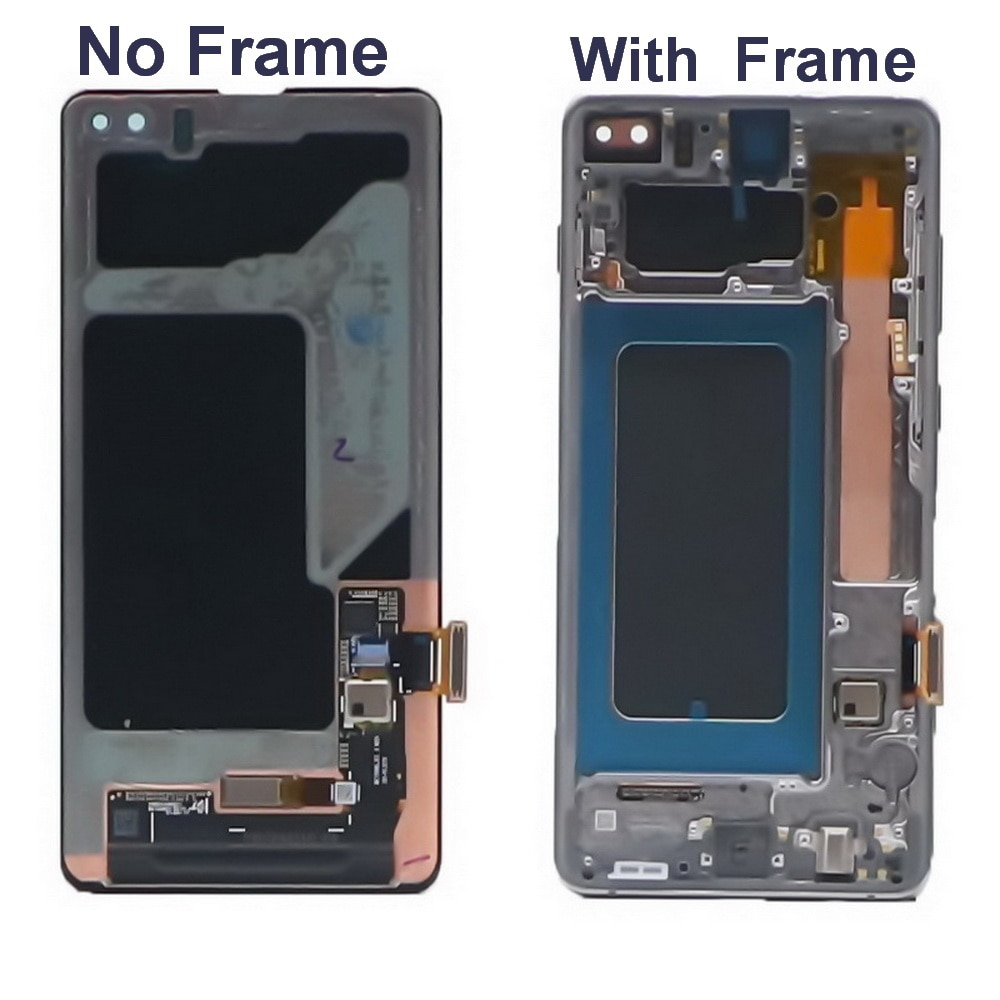Original LCD For Samsung Galaxy S10e S10 S10 PLUS G970 G970F G973 G973F G975 LCD Display Touch Screen Digitizer With back cover enlarge