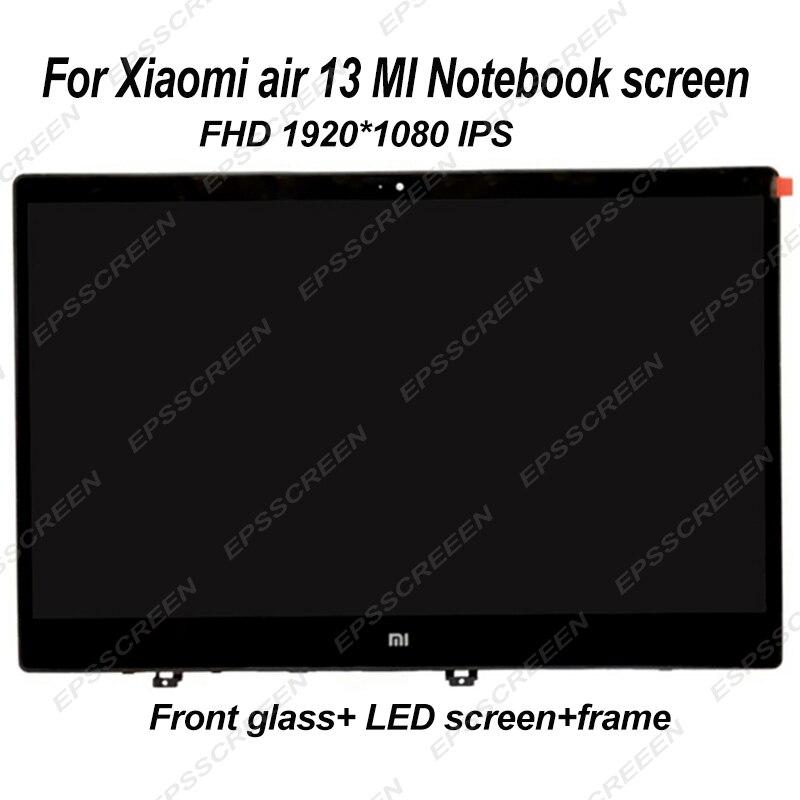 ل شاومي الهواء MI دفتر 13 شاشة الكمبيوتر المحمول LED لوحة ال سي دي + الجبهة شاشة زجاجية مصفوفة رصد FHD IPS 30 دبوس الجمعية + الحافة