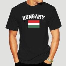 Drapeau de football hongrois en détresse-T-shirt-3268A hongrois pour hommes