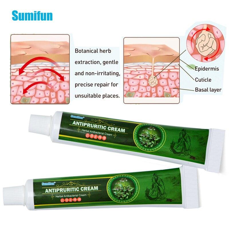 Sumifun PIEL CREMA pomada para psoriasis Dermatitis Eczematoid inhibir bacterias picazón tema importa P1083