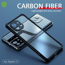 Роскошный прозрачный задний Чехол из углеродного волокна для Xiaomi Mi 11 Silm тонкий противоударный чехол для полной защиты камеры для Mi11