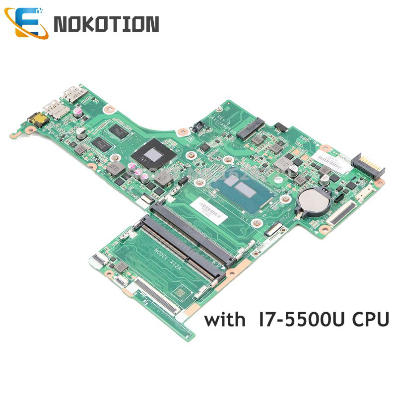 NOKOTION 809045-601 809045-001 ل جناح HP 15-AB اللوحة المحمول DAX12AMB6D0 SR23W I7-5500U وحدة المعالجة المركزية 940M 2GB GPU DDR3