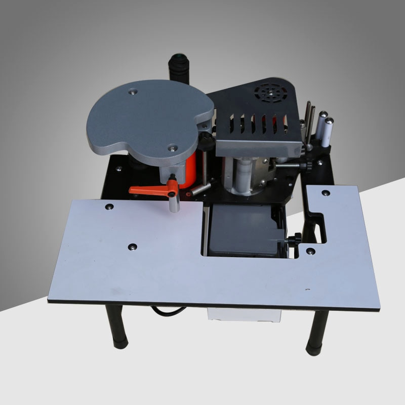 SC-40 aplicadora de borde Manual pequeña, bandas de borde portátil de pegado de doble cara, banda aplicadora de borde para carpintería, 110V/220V 1200W