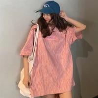 high street zebra pattern tshirt women korean ins japanese harajuku style loose print casual short sleeve vogue t shirt femme