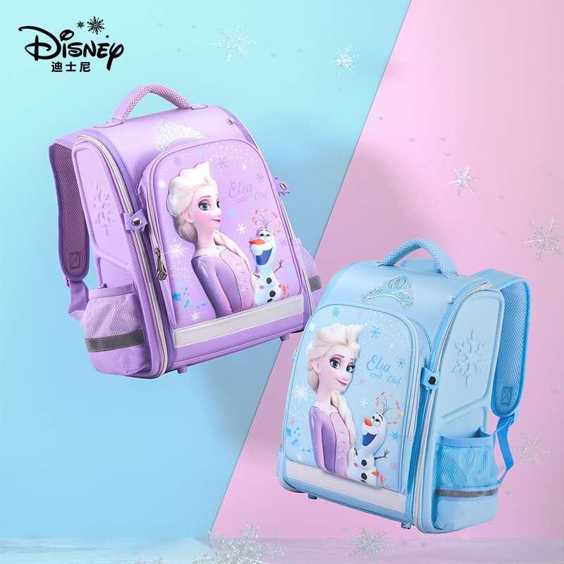 Disney Frozen School Bags For Girls Elsa Anna Primary Student Shoulder Orthopedic Backpack Large Capacity Grade 1-5 Mochila