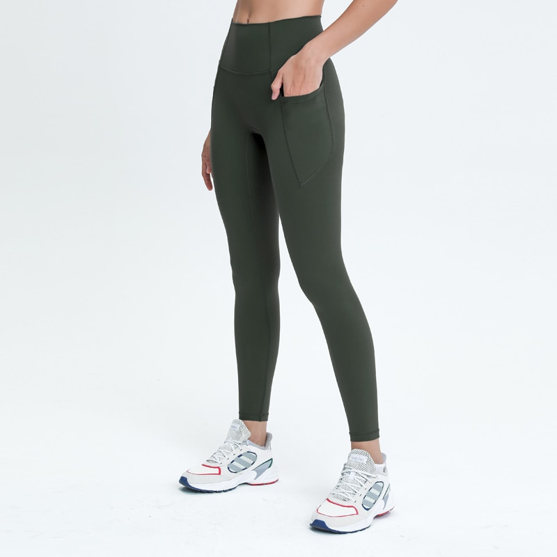 Nepoagym LOVELIFE Women Yoga Leggings Full Length with Side Pockets High Waisted Buttery Soft Yoga Pant 28 Inch Inseam