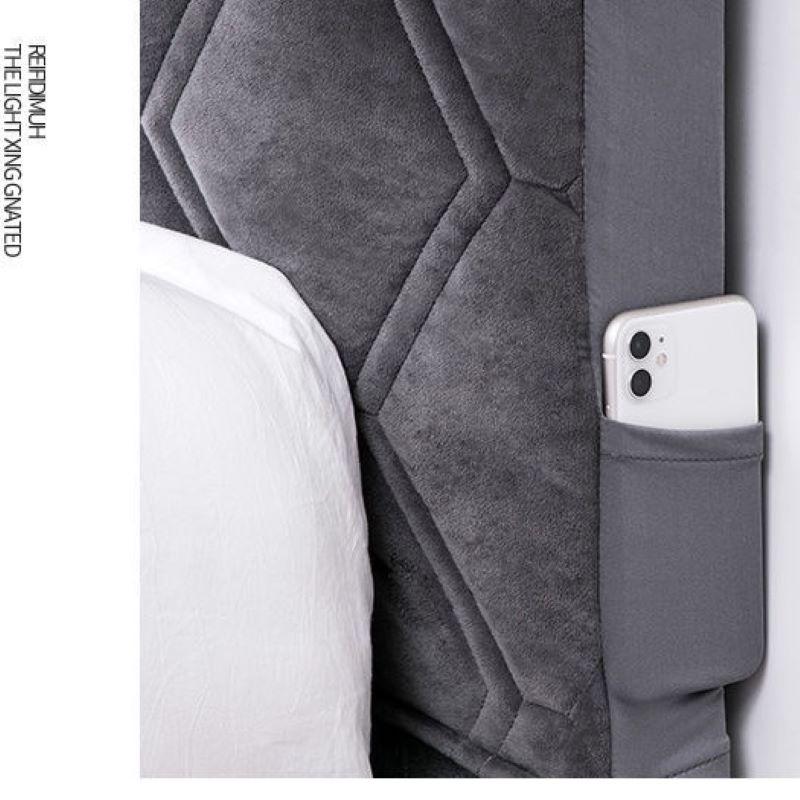 الحديث بلون رمادي رشاقته مبطن قصيرة أفخم اللوح الأمامي غطاء لينة المخملية شامل غطاء رأس السرير