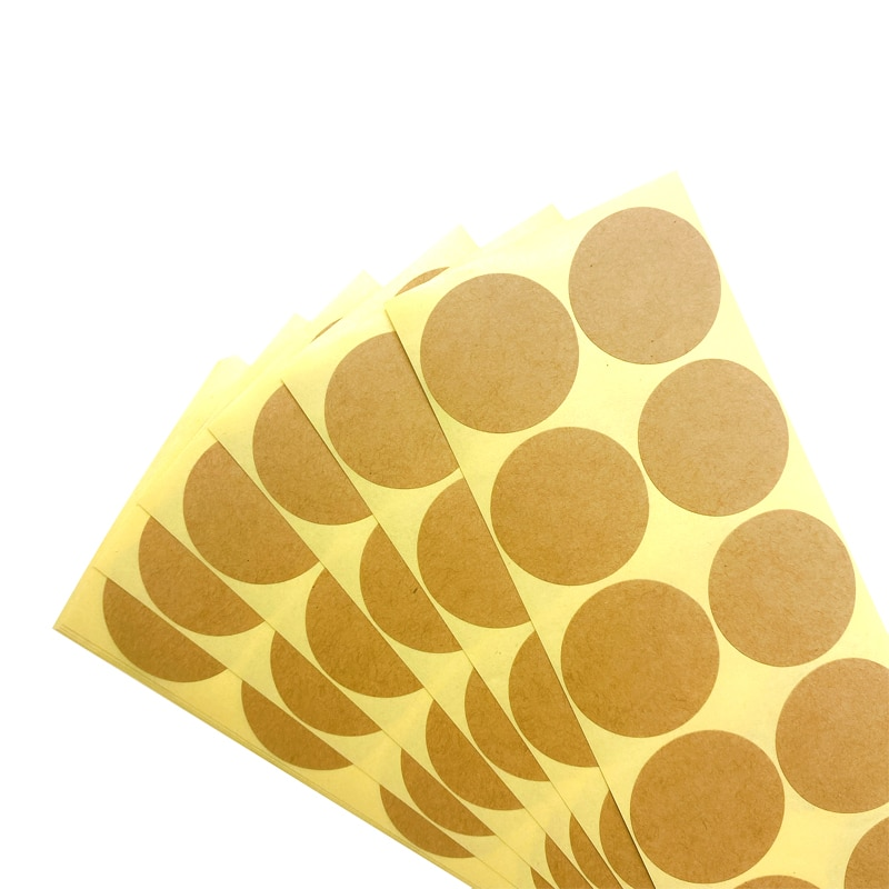AliExpress - 100pcs/pack Vintage Kraft Label Sticker Round Diameter 33~35MM Leather Color Blank Seal Stickers