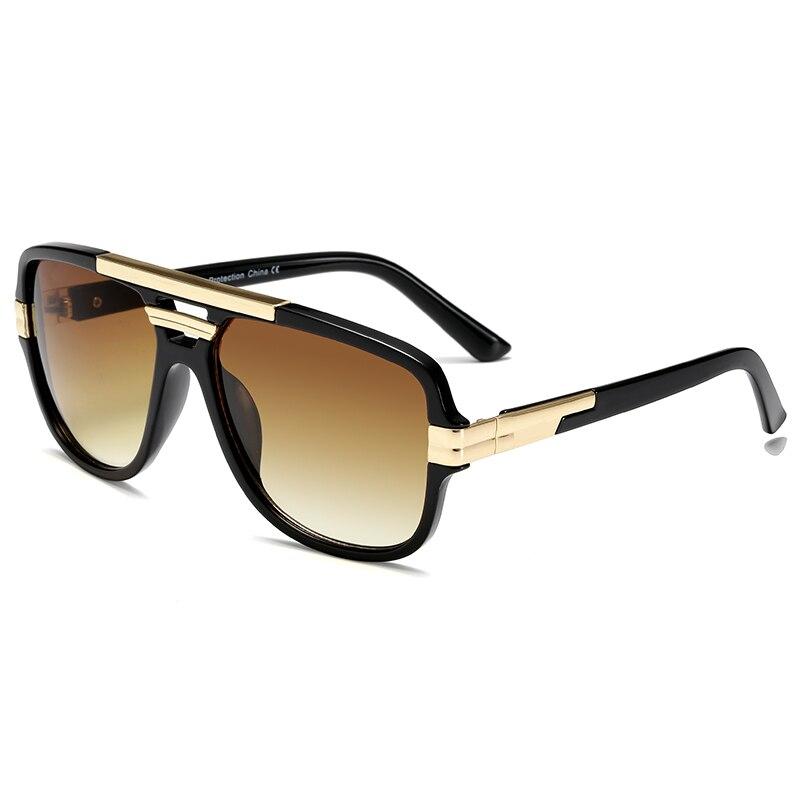 Очки солнцезащитные мужские квадратные, винтажные Роскошные солнечные очки с защитой UV400