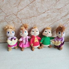 Alvin and the Chipmunks Plush toy Alvin Simon Theodore Brittany Jeanette Movie Stuffed Animal Doll K