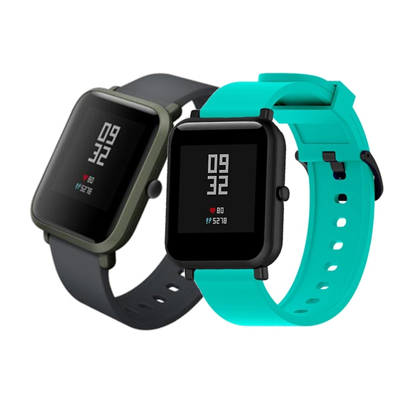 Duoteng 20mm Silicone Strap For Xiaomi Huami Amazfit Bip Smart band Bracelet for Amazfit Bip Strap R