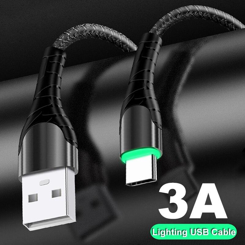 3A USB de 90 grados C Micro USB Cable de datos de carga rápida para Huawei P30 Samsung S10 S9 Xiaomi Redmi Note 7 8 Pro cable de carga USB