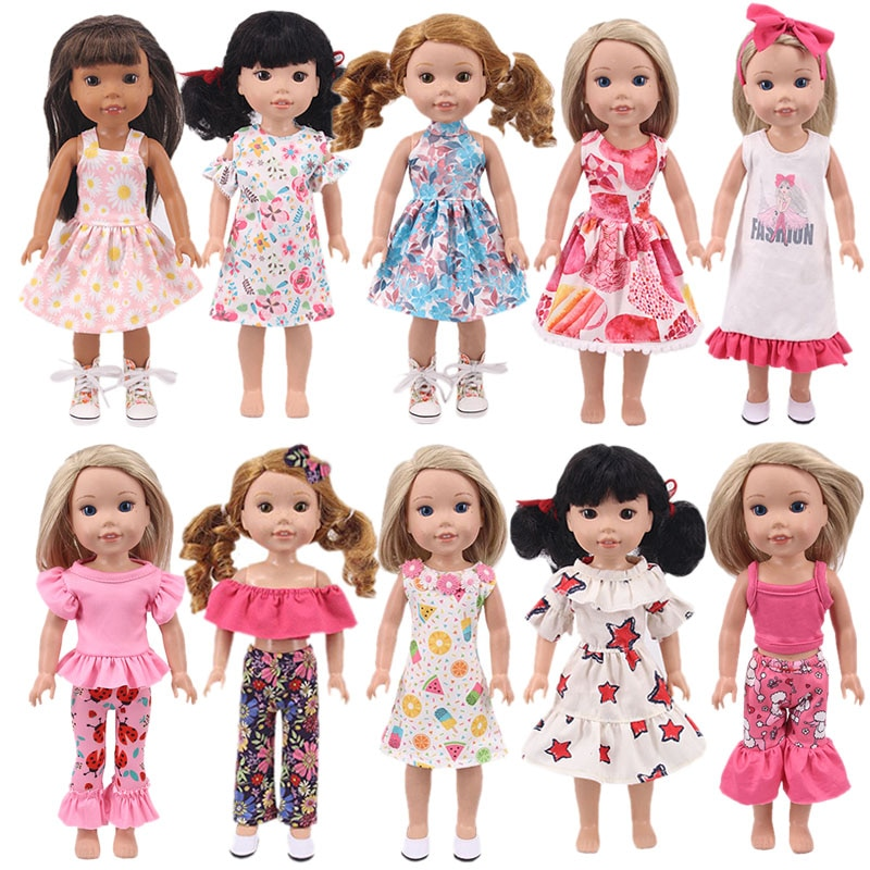 Doll Accessories, 14-inch Doll Clothes, For 14.5 Inch American Doll Girls&32-34 Cm Paola Reina Doll Clothes,Doll Dress DIY Gifts