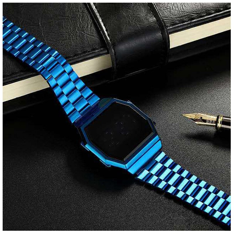 New Digital Watch Multifunctional Square Sports Waterproof Watches Touch Screen Electronic Clock Men Women Fashion Couple Watch enlarge