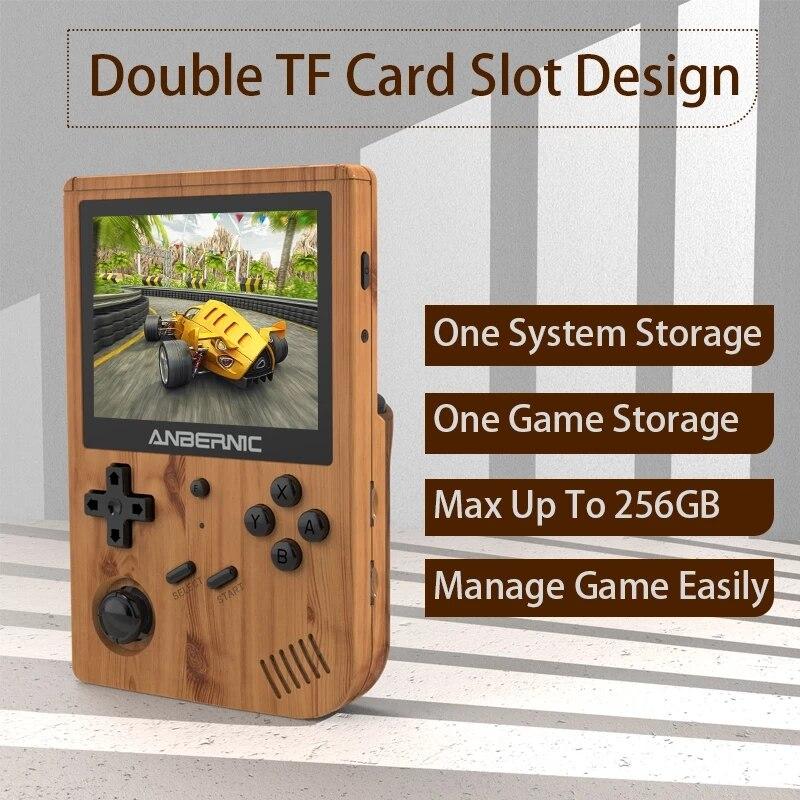 ANBERNIC-Consola de juegos Retro RK3326 con Wifi, pantalla IPS en línea, Mando de juegos portátil, emulador de Consola de juegos para PS1