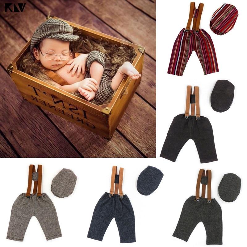 Комплект детской одежды из 2 предметов для новорожденных, штанов и шапки подтяжки для брюк комплект одежды фото костюм для съемок одежда Под...